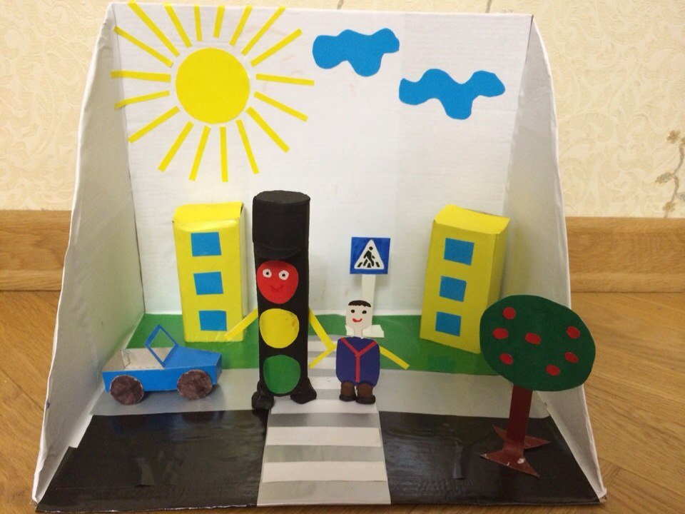 Рисунки и поделки по пдд в детском саду 40