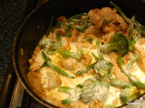 Брокколи с куриной грудкой рецепт пошагово
