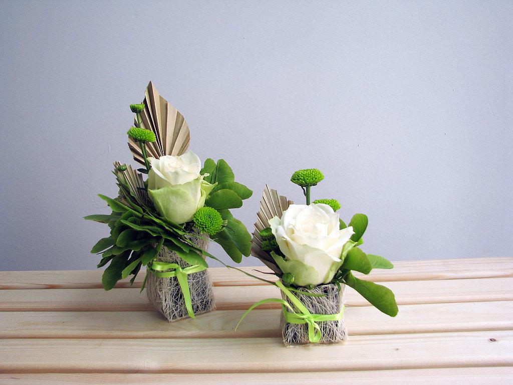 Маленькие букеты из живых цветов своими руками