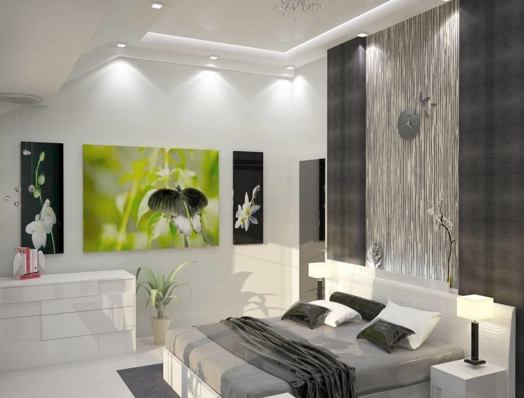 Дизайн спальни в стиле хай