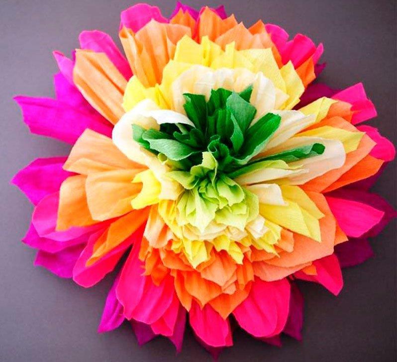Поделки цветы из бумаги гофрированной