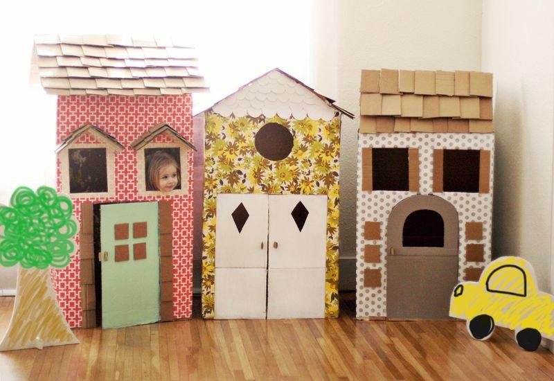 Дом из коробки своими руками фото