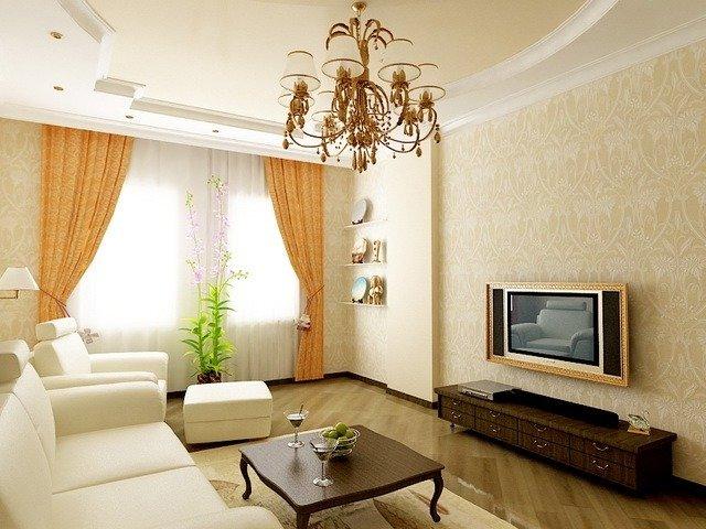 Фото интерьер маленький зал в квартире