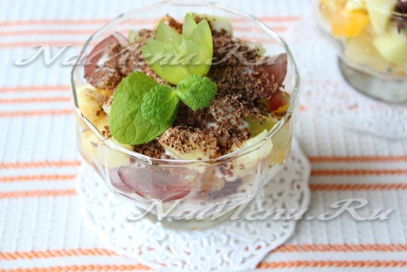Салат с йогуртом рецепт с пошагово