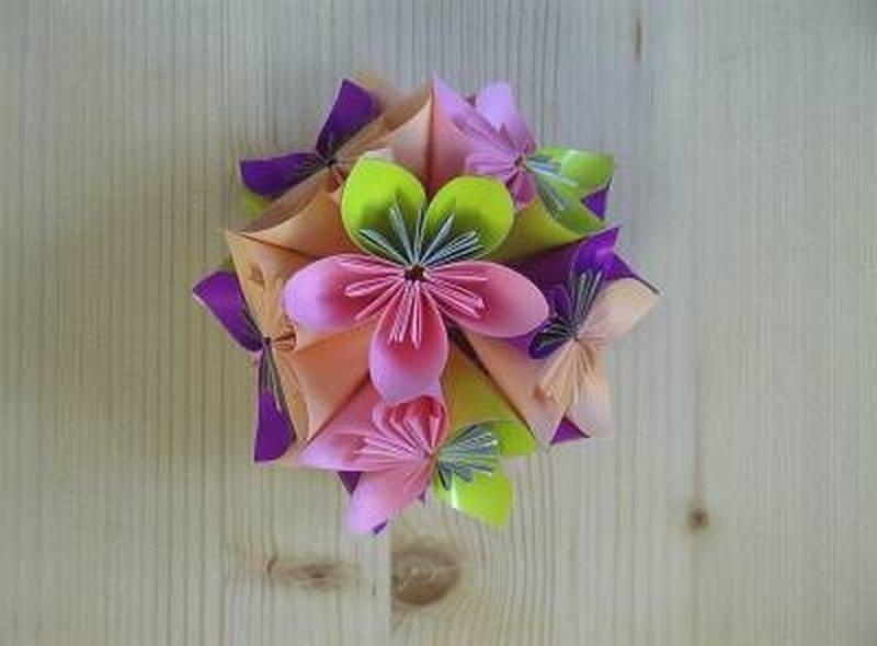 Цветок из бумаги своими руками шар