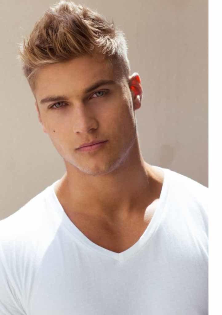 Мужские прически светлые волосы