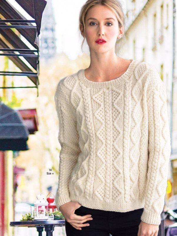 Вязание женского пуловера 12