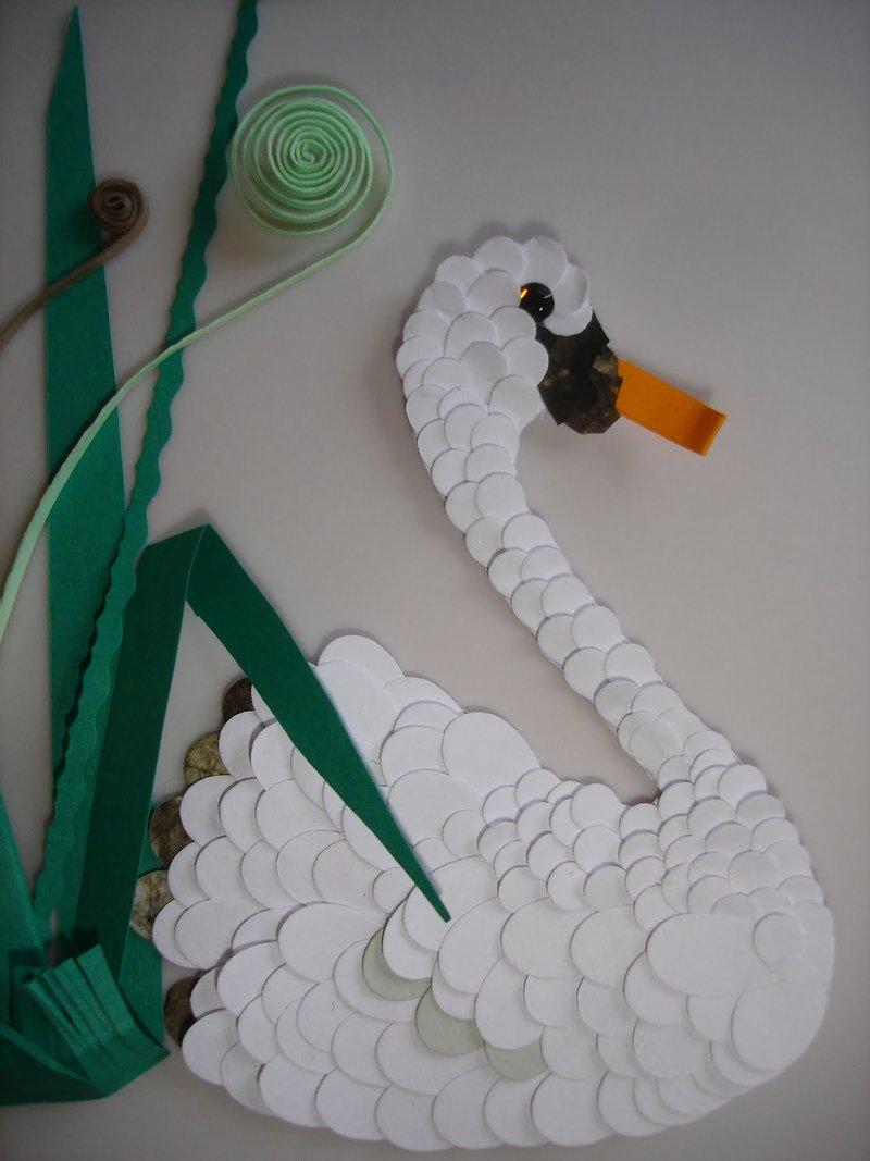 Поделка как сделать лебедя