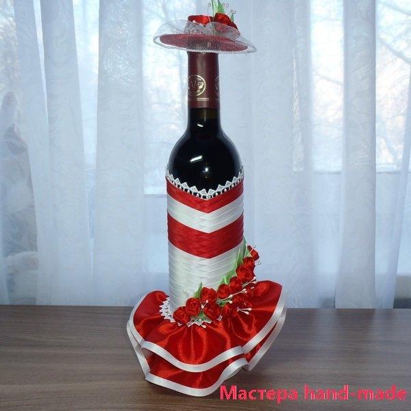 Как оформить бутылку на подарок