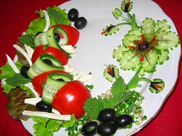 Как украсить салат греческий120