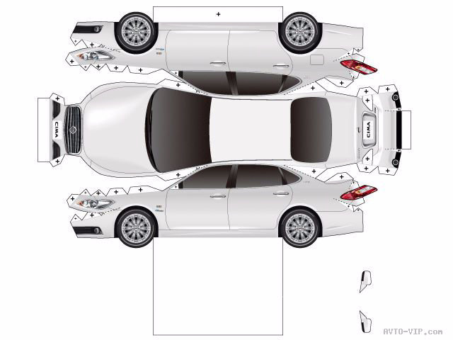 Машина из бумаги схема