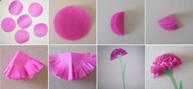 Как сделать из бумаги гвоздики из бумаги своими руками поэтапно фото 81