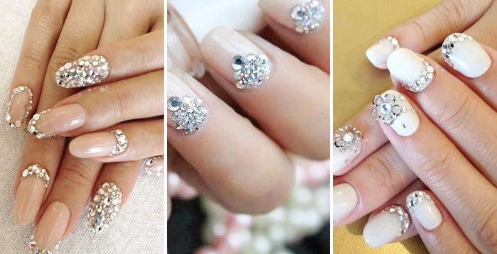 Дизайн ногтей камни сваровски