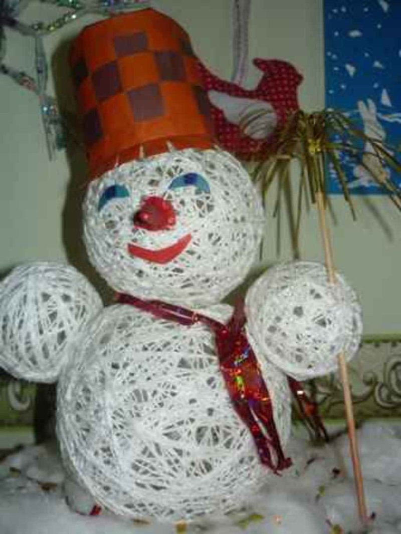 Поделки на новый год в детском саду тема зима