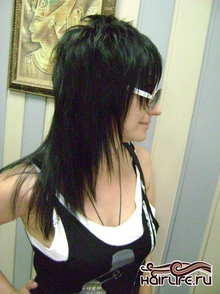 Стрижки шапочка на длинные волосы с челкой