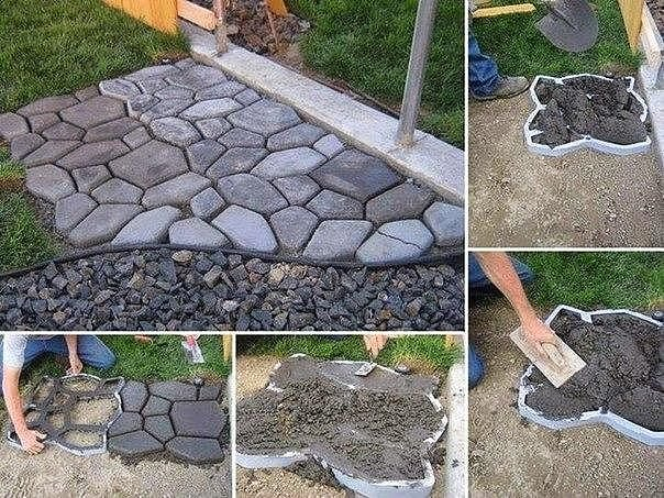 Дорожки для сада своими руками из бетона 711