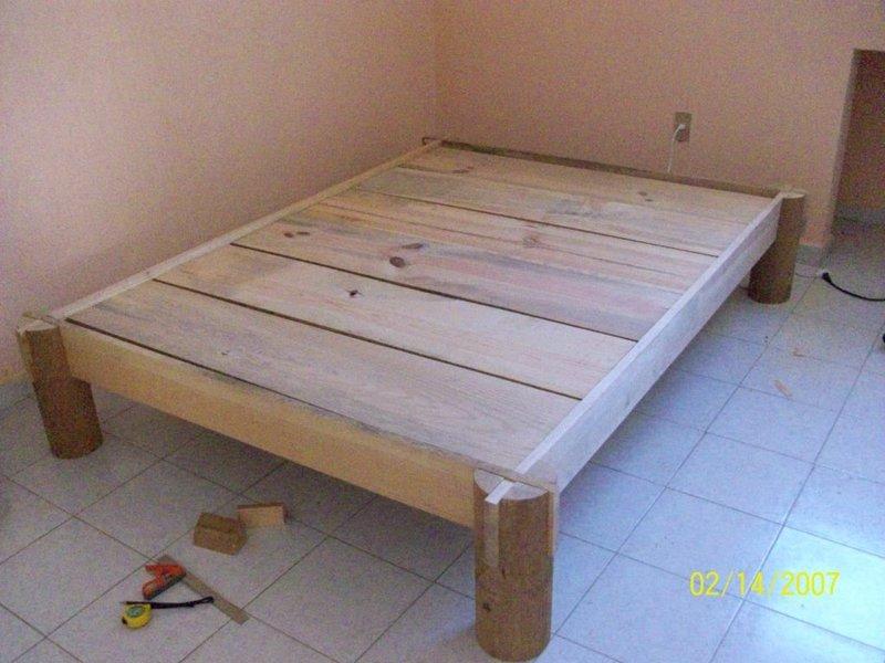 Кровать с каркасом своими руками фото