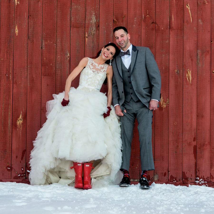 Зимняя фотосессия свадьбы фото
