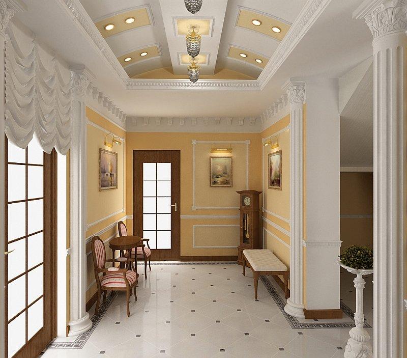 Дизайна холла в доме