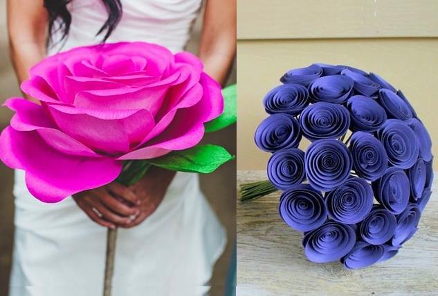 Как сделать поделки букет цветов