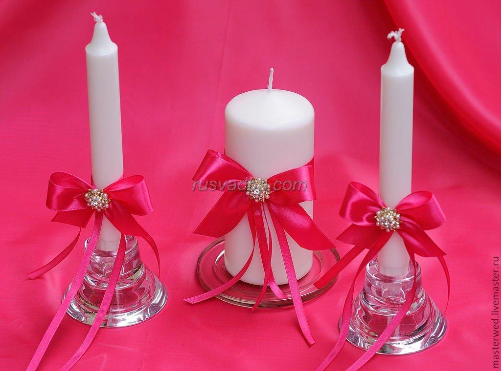 Украшение свеч на свадьбу своими руками