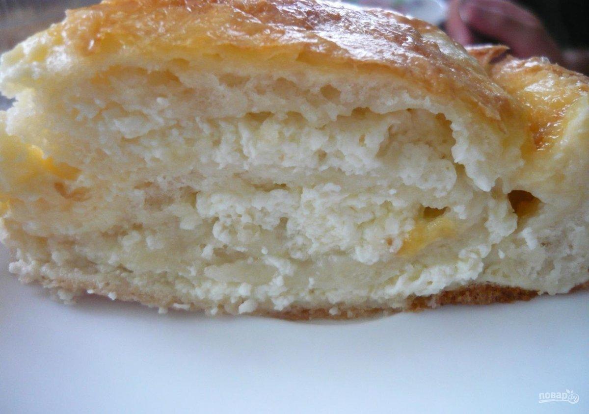 Пошаговый рецепт пирога с творогом фото