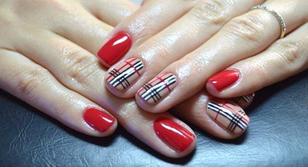 Рисунок на ногти гель лаком на короткие ногти