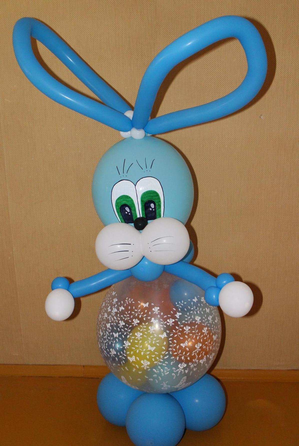Как сделать зайца из воздушных шаров фото 297