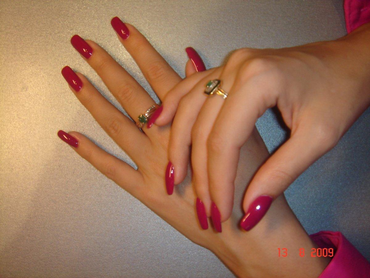 Красивый маникюр на длинные ногти самой себе
