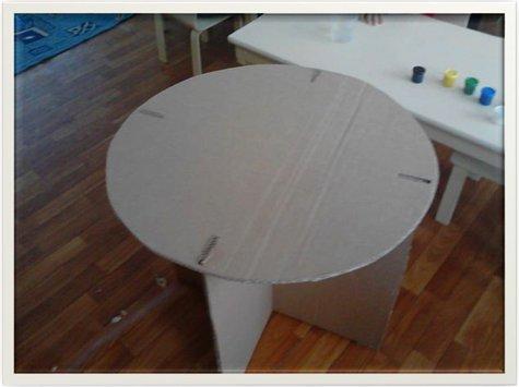 Столик для барби из картона