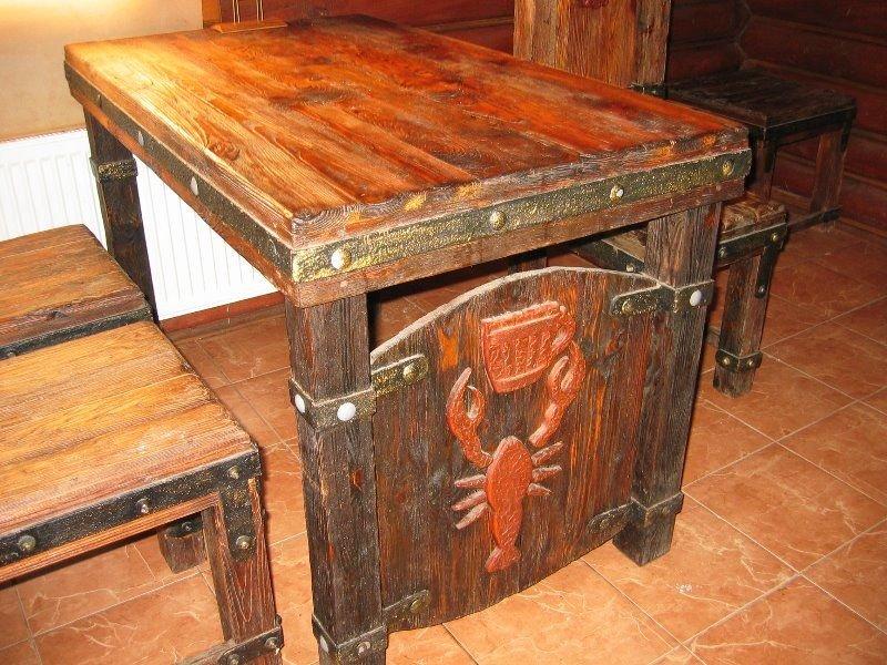 Деревянные столы под старину своими руками 36