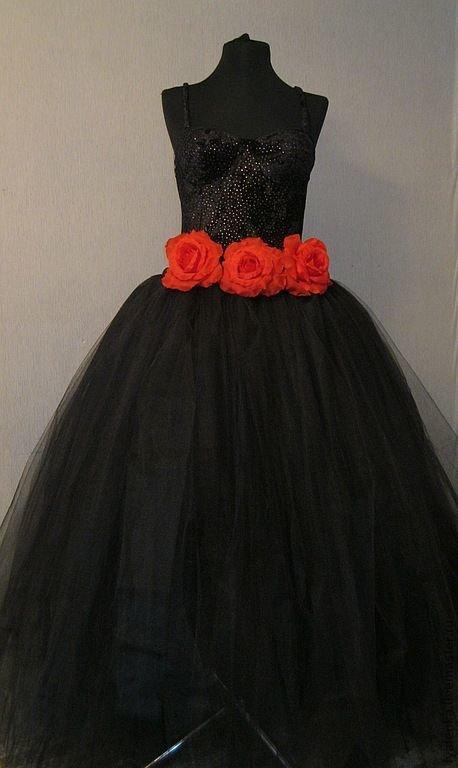 Длинное пышное платье из фатина своими руками