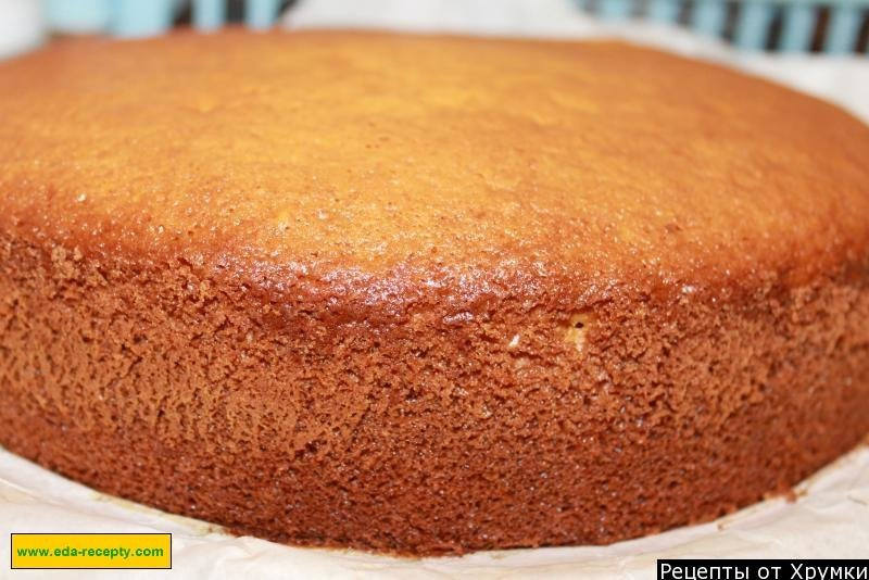 Бисквитный торт с рецепт с фото пошагово