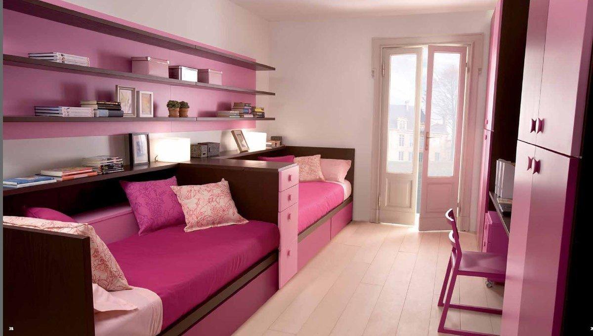 Дизайн для детской комнаты для двух девочек