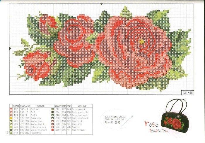 Вышивки из бисера схемы цветы 34