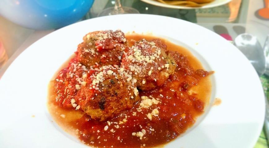 Тефтели в томатно сливочном соусе пошаговый рецепт с