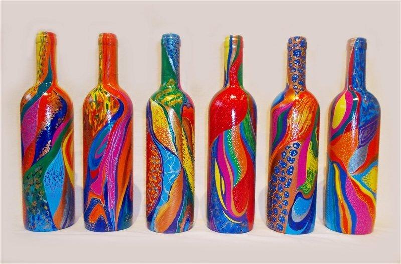 Роспись стеклянных бутылок своими руками