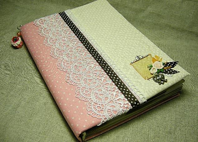 Обложка для ежедневника из ткани своими руками