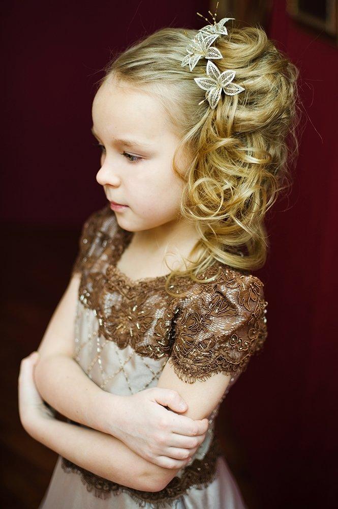 Детские свадебные прически для девочек
