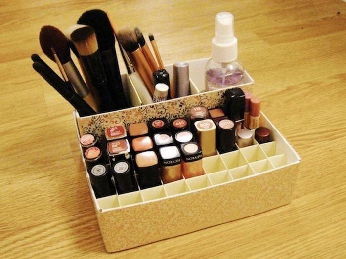 Сделать коробочку для косметики своими руками 26