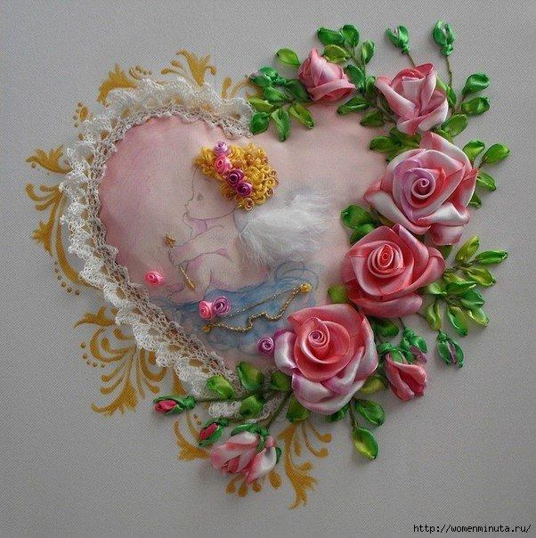 Мастер класс по вышивки роз из ленты