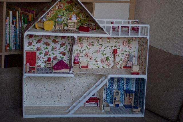 Как сделать кукольный домик своими руками видео для ever after high