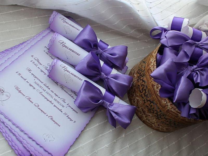 Пригласительные в виде свитков на свадьбу своими руками 19