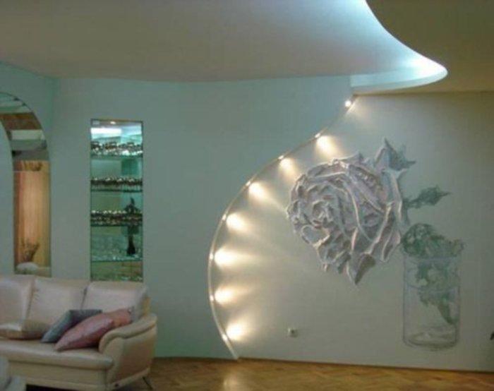 Декоративные изделия из гипсокартона на стену