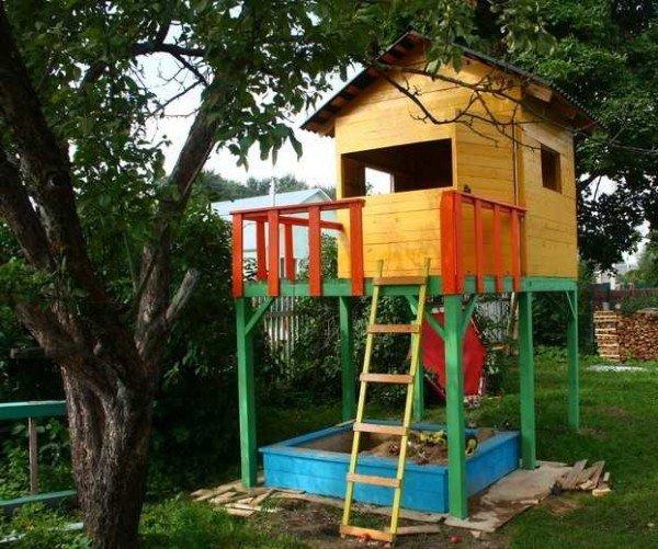 Детские домики на садовом участке