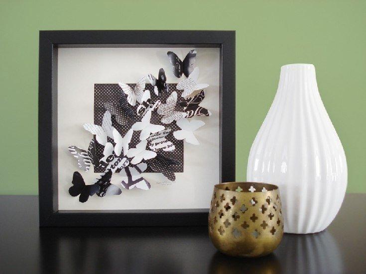 Объемные картины с бабочками своими руками