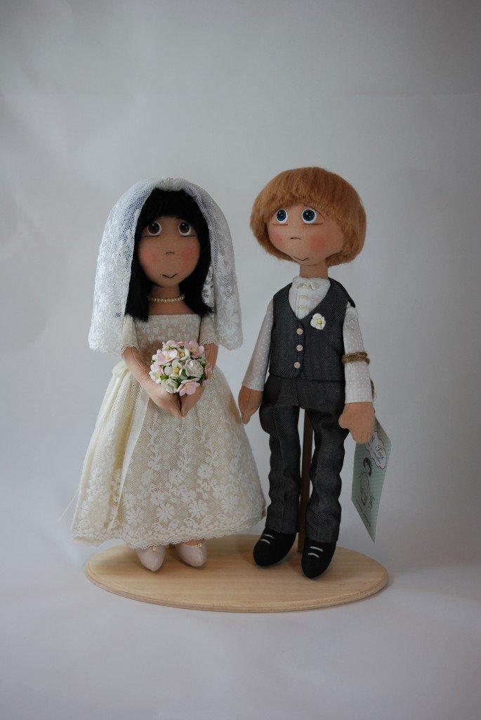 Своими руками невеста и жених кукла сшить 46