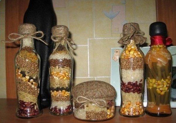Декорирование банок и бутылок