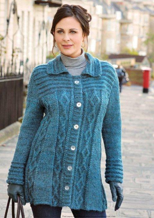 Вязание для женщин кофт кардиганов 60