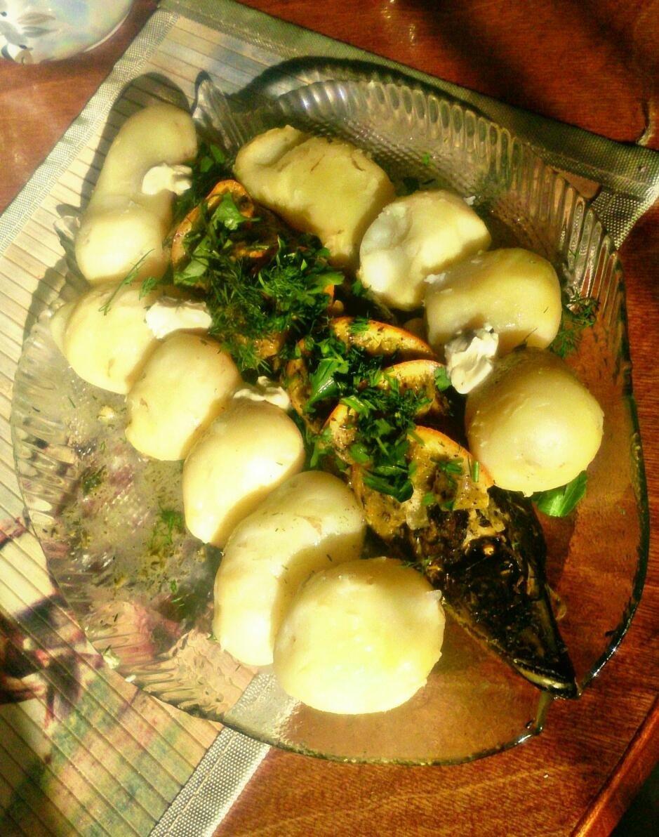 Щука запеченная в духовке с картофелем рецепт пошагово